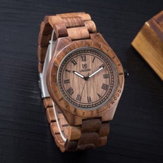 UWOOD Natural Wood Watches Holzuhr Walnuss