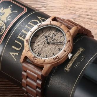 UWOOD Natural Wood Watches Holzuhr Walnuss