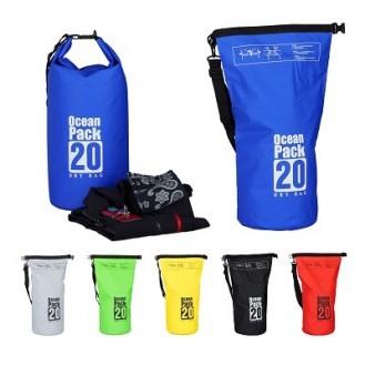 Seesack Strandtasche wasserdicht Outdoor 20L Blau