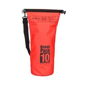 Seesack Strandtasche wasserdicht Outdoor 10L Orange