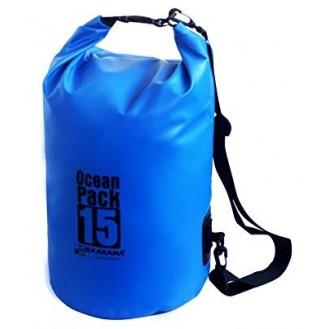 Seesack Strandtasche wasserdicht Outdoor 15L Blau