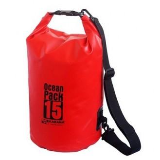 Seesack Strandtasche wasserdicht Outdoor 15L Orange