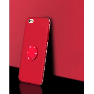 X-Ring Finger Loop Magnet Case iPhone 7 & 8 Red