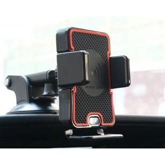 KFZ Auto Qi Wireless Charger + Befestigung + Automatisch