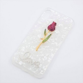 Bling Rose Cover Case Hülle iPhone X