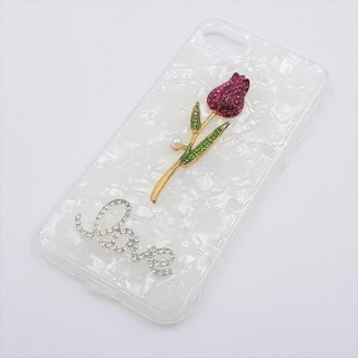 Bling Rose Cover Case Hülle iPhone 7, 8