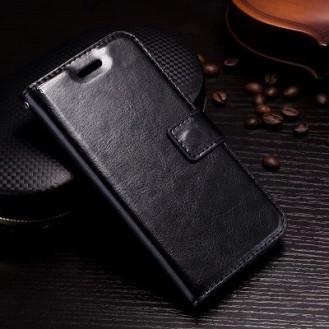 Leder Book Case Etui Galaxy Note 9 Schwarz