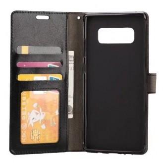 Leder Book Case Etui Galaxy Note 9 Braun