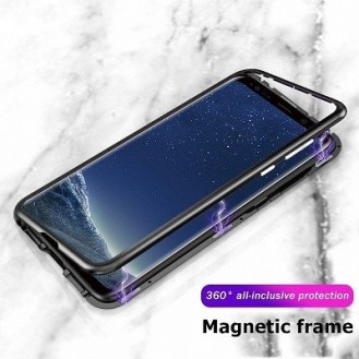 360° Magnet Cover Hülle Galaxy S9 Plus Schwarz