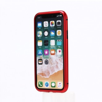 360° Magnet Cover Transp iPhone X Schwarz