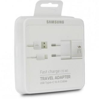 Samsung Reiseladegerät EP-TA20EWE Weiss inkl. USB 2.0 Typ-C Datenkabel EP-DN930CWE, Blister
