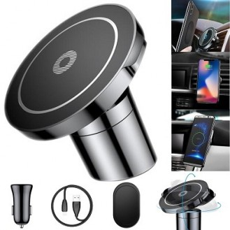 Baseus - Qi Wireless 2A Fast Charging Auto KFZ Magnet Halterung