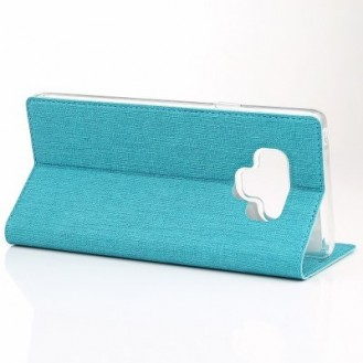 Galaxy Note 9 Book Case Wallet Tasche Blau