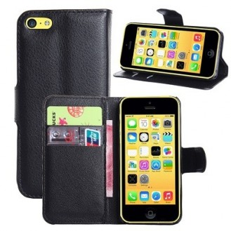 iPhone 5C Book Case Wallet Tasche Schwarz