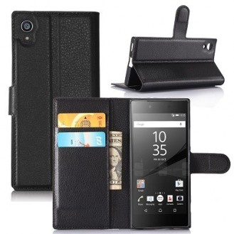More about Leder Book Case Etui Xperia XA1 Ultra Schwarz