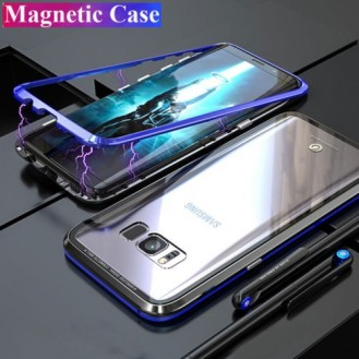 360° Magnet Cover Hülle Galaxy Note 9 Blau