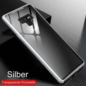 360° Magnet Cover Hülle Galaxy Note 9 Silber