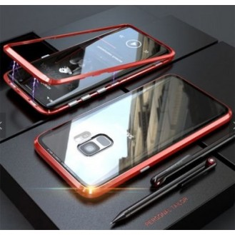 360° Magnet Cover Hülle Galaxy S8 Rot