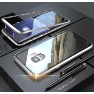 360° Magnet Cover Hülle Galaxy S9 Silber