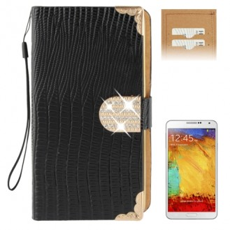 More about Schwarz Bling Leder Etui Samsung Note 3