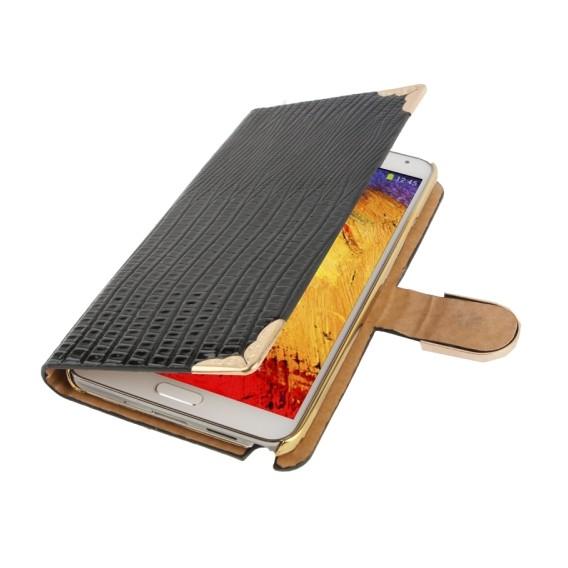 Schwarz Bling Leder Etui Samsung Note 3