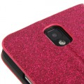 Pink Bling Leder Etui Samsung Note 3