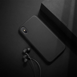 XUNDD iPhone XS, X Hard Silikon Hülle Schwarz
