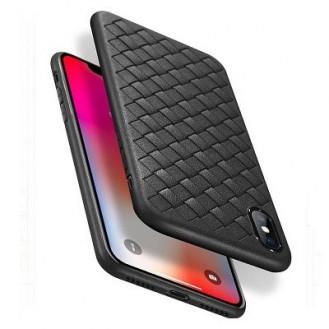 Woven Pattern TPU Soft Hülle Rot fur iPhone XS