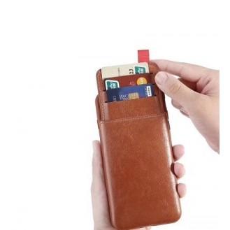 iPhone XR Ribbon Leder Case Hülle Braun