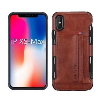 iPhone XS Max Leder Etui Hülle Braun