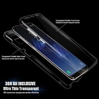 Samsung Galaxy Note 9 Transparent Silikon 360 Fullbody Case