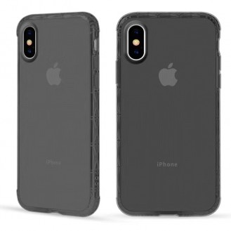 iPhone XS Max Silikon Case  Hülle Grau