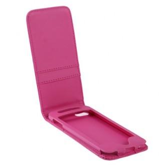 More about Vertikal Flip Leder Etui mit Kartenplatz für iPod touch 5th rosa