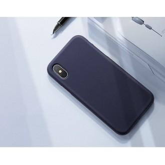 iPhone XR Hard Silikon Hülle Blau