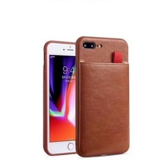iPhone XR Wallet Ribbon Leder Case Hülle Braun