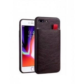 iPhone XR Wallet Ribbon Leder Case Hülle Coffee