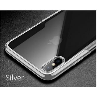 iPhone XR Transparent Silikon Case Silber