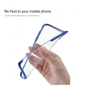 iPhone XR Transparent Silikon Case Blau