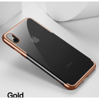 iPhone XS Max Transparent Silikon Case Gold