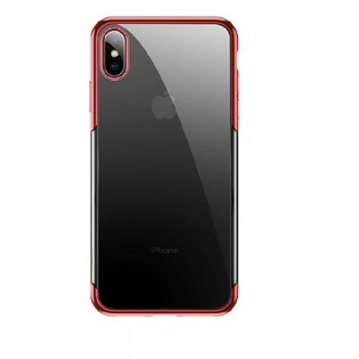 iPhone XS Max Transparent Silikon Case Rot
