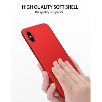 iPhone XS Max Hard Silikon Hülle Rot