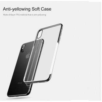 iPhone XS Transparent Silikon Case Schwarz
