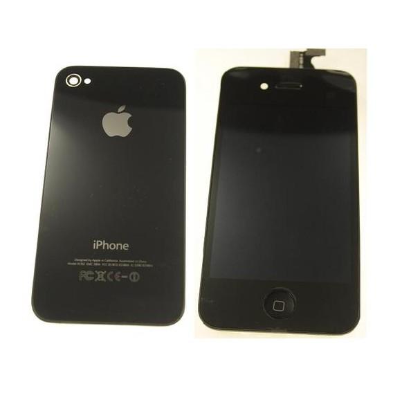 iPhone 4 Umbau Komplett Set / Reparatur Set in Schwarz