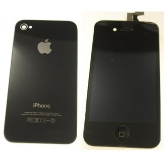 iPhone 4 Umbau Komplett Set / Reparatur Set in Schwarz A1332, A1349