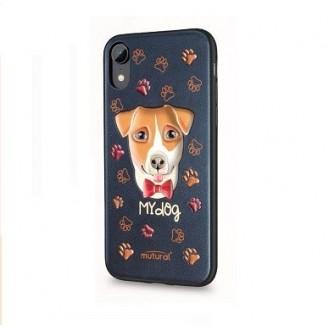 iPhone XR 3D Hund Silikon Case Schwarz