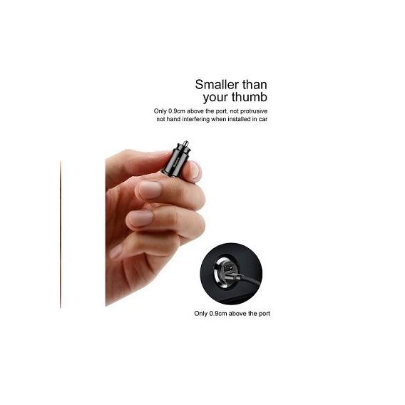 USB Mini Ladegerät Für Auto Schwarz Baseus