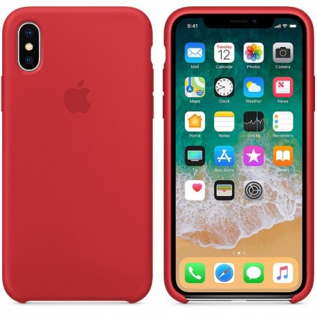 iPhone XR Silikon Case Rot