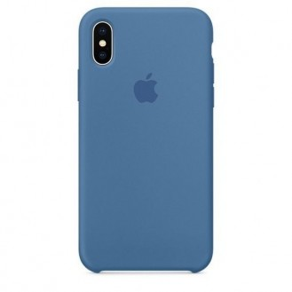iPhone XS Max Silikon Case Denim Blau