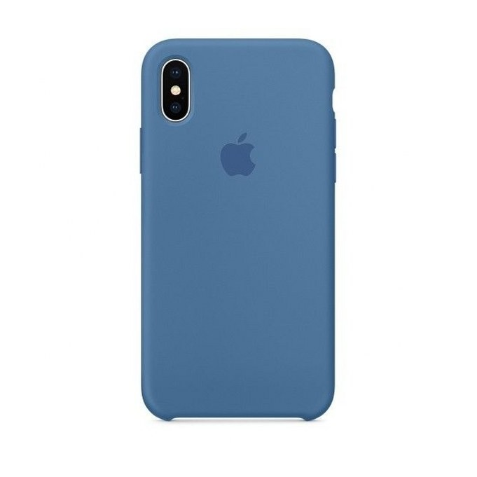 iPhone XR Silikon Case Denim Blau