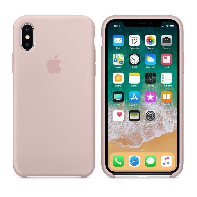 iPhone XR Silikon Case Pink Sand